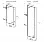 Spiegel uittrekbaar - 180° Draaibaar - Antraciet - Twee hoogtes: 565 en 1155 mm
