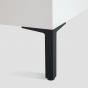 Meubelpoot - Zamac - Zwart - Hoogte verstelbaar - Drie Hoogtes: 90, 140, 200 mm