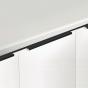 Greeplijst - Aluminium - Om te schroeven - Zwart geborsteld - 7 Lengtes