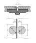 Vouwdeurscharnier - Openingshoek: 180° - Deurdikte: vanaf 13 mm
