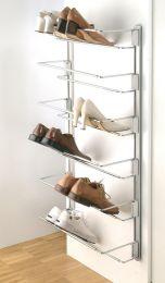 Wandrail - voor traploos instelbare schoenenhouder - Set