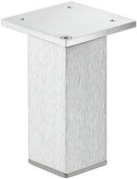 Meubelpoot - Aluminium - RVS Look - Hoogte-verstelbaar - Hoekmontage - 4 Hoogtes: 50, 80, 100, 150 mm