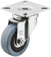 Zwenkwiel - 40 kg - Loopvlak Zacht - Met bevestigingsplaat - ø 50 mm