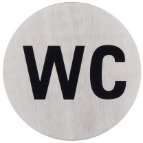 Pictogram - WC - RVS - ø 75 mm