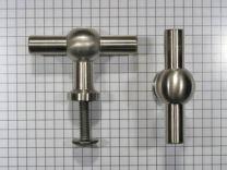 Meubelknop 55 mm. RVS
