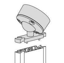 Slim Schuine Plafondbevestiging - 0-45° - Kleuren: Aluminium, Zwart en Wit