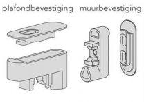 Slim Plafond- of Muurbevestiging - Kleuren: Aluminium, Zwart en Wit