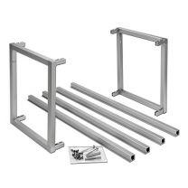 Smartcube Set - Meubelwand-systeem - Aluminium - RVS Look - Hoogte: 450 mm