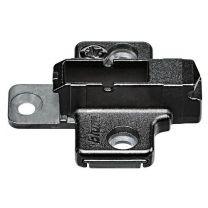 Blum Kruisontageplaat voor euroschroeven - Onyx Zwart - 6 mm
