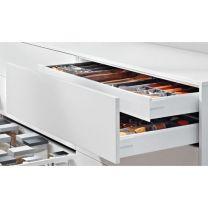 Voorgemonteerd - Binnenlade - Blum Antaro K - Blumotion - Inbouw-hoogte: 13.7 cm - Zijwandhoogte: 11.6 cm