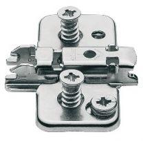 Blum kruismontageplaat - Met Euroschroeven - 0 mm