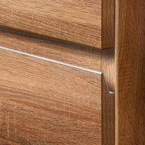 Greeplijst Baldi - Infreesprofiel - Aluminium - Zilver - Lengte: 2500 mm