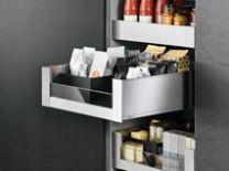 """Binnenvoorraadlade - Blum Legrabox C - Met Glas - """"Blumotion"""" Inbouwhoogte: 19.1 cm"""