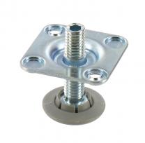 Stelpoot met Bevestigingsplaat - Hoogte: 37.5 mm - Vier stuks