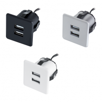 USB-Oplaadstation - Inboor - Grijs, Wit, Zwart