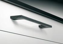 Greep Hout en Metaal - Zwart/Zwart - Greepdikte 10 mm - Lengte: 350 mm