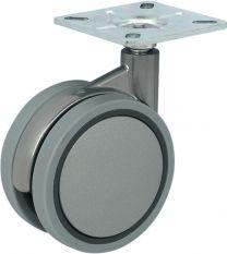 Meubelwiel - 60kg - Loopvlak Zacht - ø 100 mm