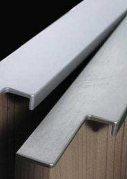 Greeplijst Aluminium - Infreesprofiel - RVS Look - Acht Lengtes