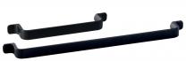 Meubelgreep - Zamak - Zwart - Greepdikte: 16 mm - Twee lengtes: 164 en 292 mm