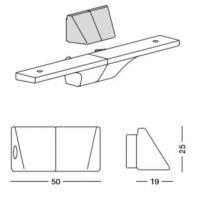Slim Bevestigingskap voor Glasplaat of Lade - Kleuren: Aluminium, Zwart en Wit - Set L/R