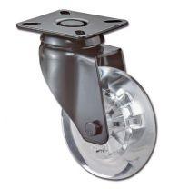 Design Zwenkrol - Zwart - 40 kg - ø 50 mm