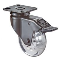 Design Zwenkrol met rem - Zwart - 50 kg - ø 75 mm