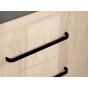 Meubelgreep - Aluminium - Zwart Mat - Greepdikte: 17 mm - Drie lengtes: 103 t/m 263 mm
