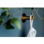 Garderobehaak - Goud gesatineerd - Hoogte: 35 mm