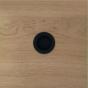 Komgreep - Messing - Zwart Mat - ø 40 en 60 mm - Om te lijmen