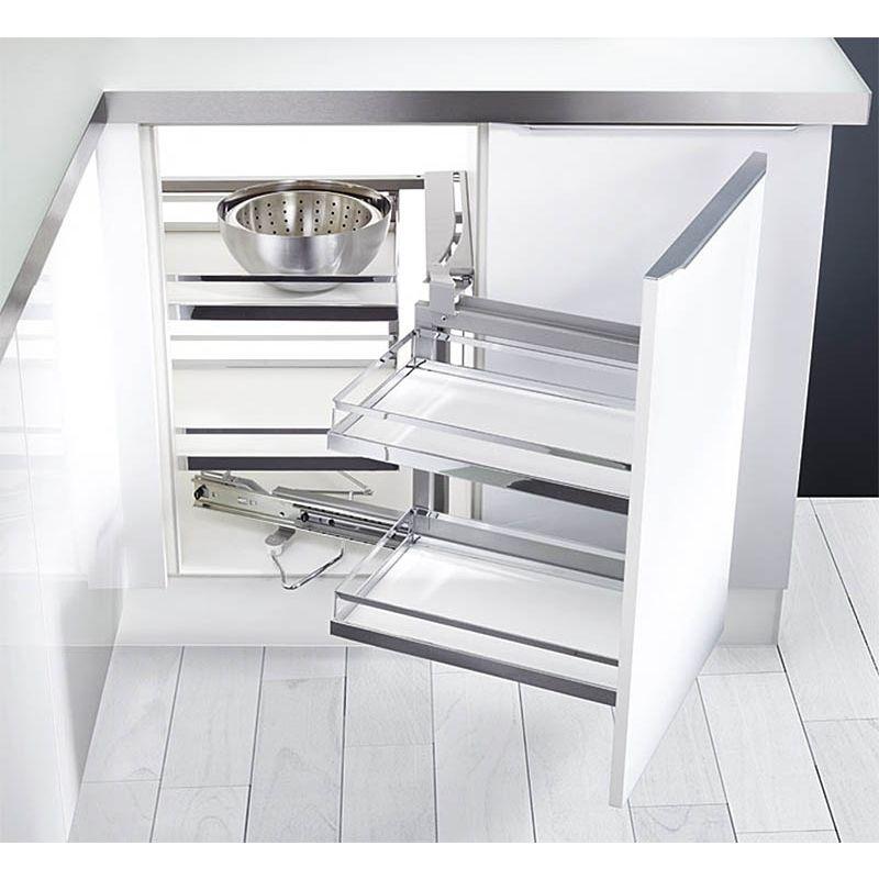 Wonderbaar Magic Corner - Hoekkast-oplossing voor de Keuken - Meubelbeslagshop.nl WD-23