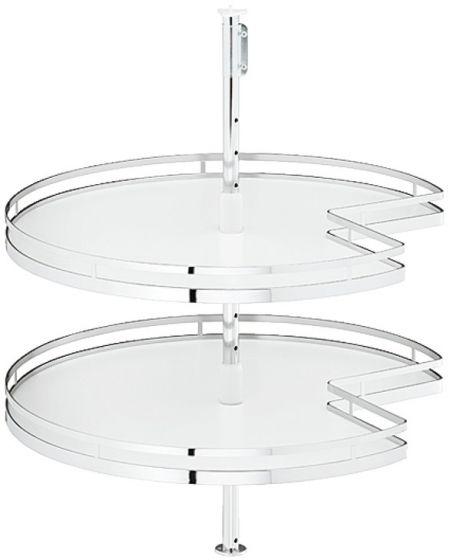 Set Driekwart Draaibodems Arena Style - Chroom / Wit - Kastbr. 900 x 900 mm