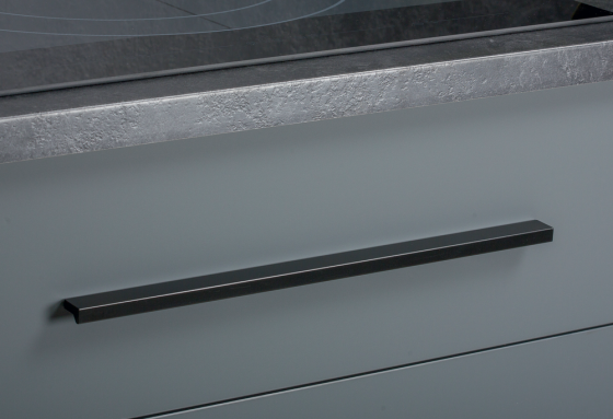 Greep - Aluminium - Zwart Mat - 5 Lengtes: 100 t/m 1480 mm