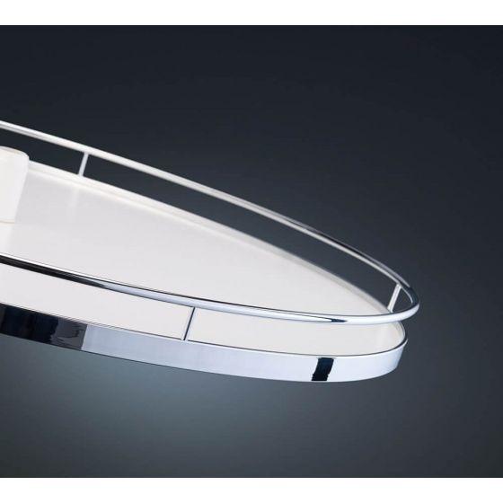 1 x Revo 90 draaibodem - Arena Classic Plus - Met anti-slip - Voor kast 900x900 mm. Chroom/Wit