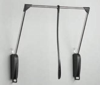Garderobelift - Servetto Achterwandbevestiging - Zwart/ Nikkel - 10 kg