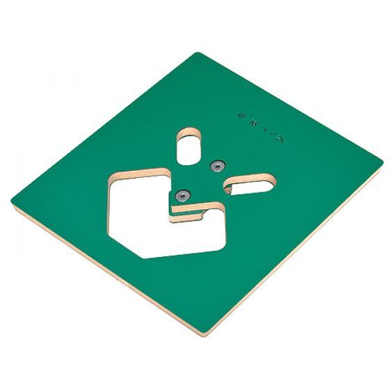 Freessjabloon - Voor Tafelpootbevestigingen gelijkliggend met tafelblad