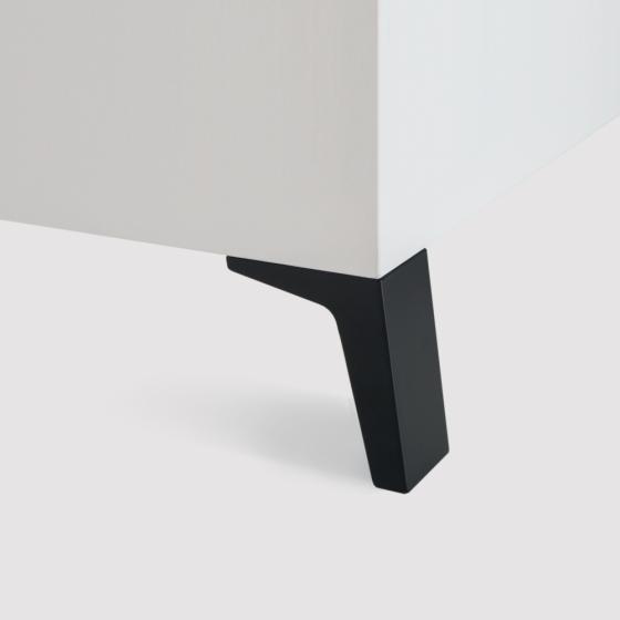 Meubelpoot - Zamac - Zwart - Hoogte verstelbaar - Hoogte: 100 x 50 mm