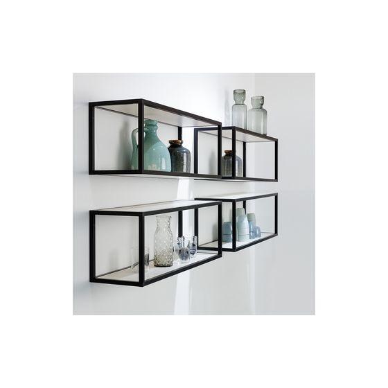 Smartcube Set - Meubelwand-systeem - Aluminium - Zwart - Hoogte: 300 mm