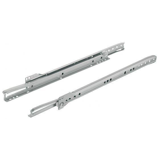 Rolgeleider - Deels Uittrekbaar - Wit-Aluminium - L: 250 t/m 600 mm - 20 kg