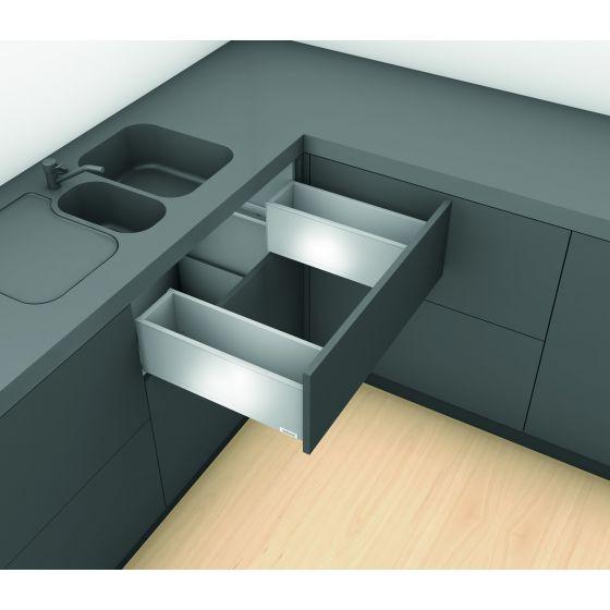 "Spoelbaklade Blum Legrabox M ""Blumotion"" Inbouwhoogte: 10.4 cm"