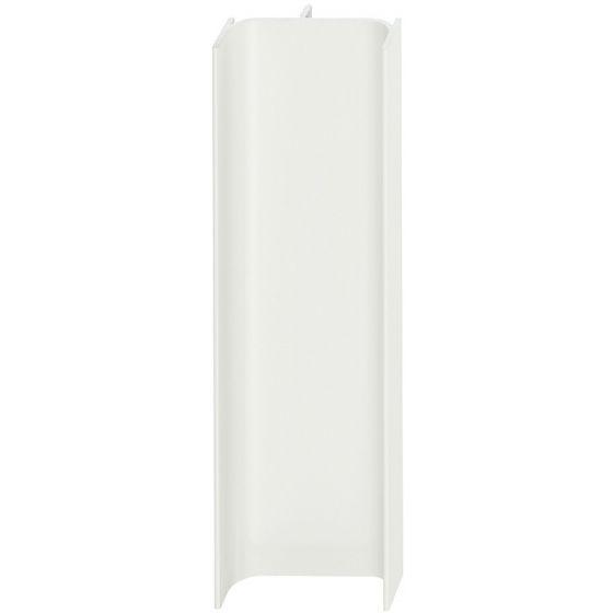 C-Profiel Verticaal - Aluminium - Wit Glanzend - 2500 mm