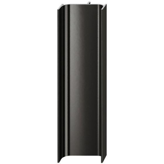C-Profiel Verticaal - Aluminium - Zwart Glanzend - 2500 mm