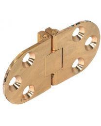 Klaptafelscharnier voor Klap- en Naaimachinetafels - Messing