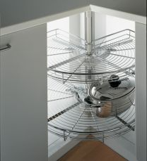 Compleet Onderhoekkast-systeem met driekwart draaikorven - 800 x 800 mm - Hoekkast 90°