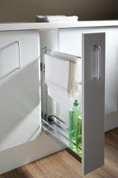 Uittrekelement voor onderkast - Kast-breedte: 15 cm - Type: Style met handdoekdrager - Chroom