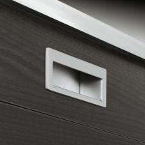 Komgreep - Zamak - Chroom Mat - 105.5 x 37 mm