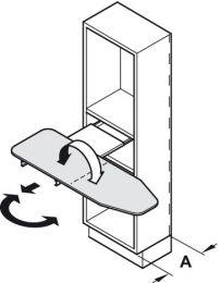 Strijkplank - Inbouw op Legplank