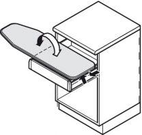 Strijkplank - Inklapbaar - Montage in Lade