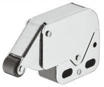 Mini-Latch Snapper met Veersluiting - Vernikkeld/Zwart