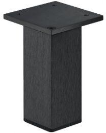 Meubelpoot - Aluminium - Zwart - Hoogtes: 50, 80, 100, 150 mm - Hoekmontage