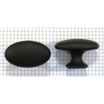 Knop ovaal - Zwart Mat - 60 x 38 mm